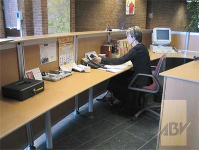 Bureau d acceuil bureau duaccueil osiris with bureau d acceuil bureau accue - Unique mobilier de bureau ...